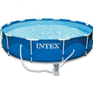 Intex Piscine tubulaire Metal Frame ronde 4,57 x 0,84 m