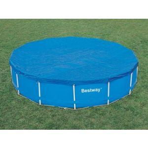 Bestway 58134 - Bâche 4 saisons pour piscine tubulaire ronde Steel Pro Frame Ø 457 x 122 cm