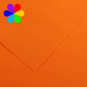 Canson 200040008 - Feuille Iris Vivaldi A4 120g/m², coloris orange 9