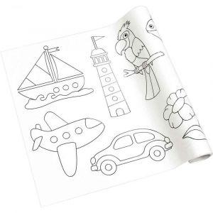 Maildor Rouleau fresque à colorier adhésif repositionnable, décor pour les petits