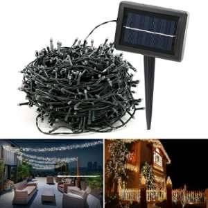 Idmarket Guirlande solaire 1000 led multicolores décoratives