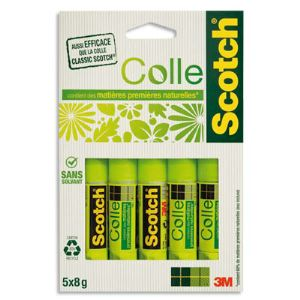 Scotch 5 Batons de colle Stick 8g