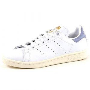 Adidas Stan Smith W Chaussures de Fitness Femme, Blanc Ftwbla/Azutiz 000, 37 1/3 EU