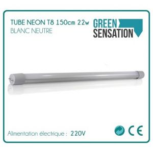 Desineo Tube Néon T8 150cm 22w 1900Lm Blanc neutre éclairage par LED -