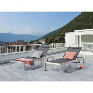 Beliani Fossato - Transat de jardin en aluminium