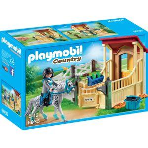 Playmobil 6935 Country - Box avec Cavalière et Cheval Appaloosa