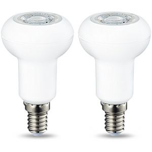 Amazon Basics Spot LED E14 R50, avec culot à vis et lentille réfléchissante, 3.5 W (équivalent ampoule incandescente de 40W), blanc froid, dimmable - Lot de 2