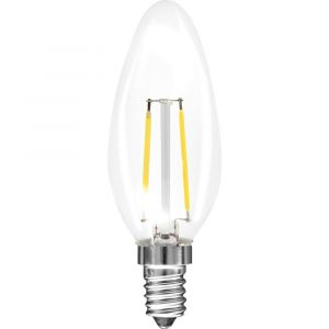 Müller-Licht Müller Licht LED EEC A++ (A++ - E) E14 en forme de bougie 1.5 W = 15 W blanc chaud (Ø x L) 35 mm x 98 mm à filament 1 pc(s)