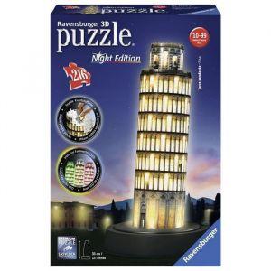 Ravensburger Puzzle 216 pièces 3D : Night Edition : Tour de Pise
