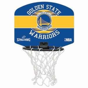 Spalding Spalding NBA MINIBOARD GOLDEN STATE (77-661Z) - Mini Panier Basket - Logo Officiel NBA - Mini Ballon Inclus - multicolore