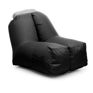 Blumfeldt Airchair Fauteuil gonflable 80x80x100cm sac à dos lavable - noir