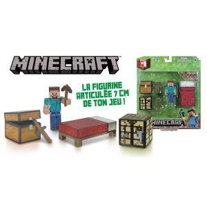 Jazwares Figurine articulée Minecraft : coffret de survie avec accessoires