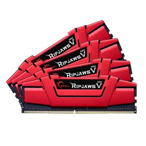 G.Skill F4-2133C15Q-32GVR - Barrette mémoire RipJaws V Series Rouge 32 Go (4x 8 Go) DDR4 2133 MHz CL15