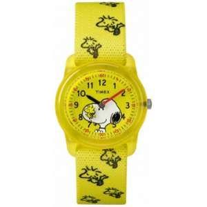 Timex Peanuts TW2R41500 Montre bracelet Fille/garçon Nylon Jaune