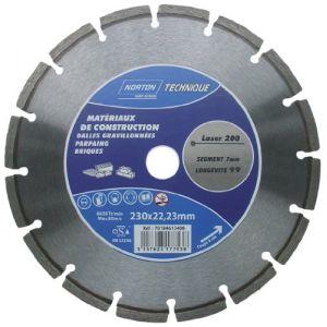 Norton clipper Disque diamant - Laser 200 - D: 230 mm - Disque pour meuleuse