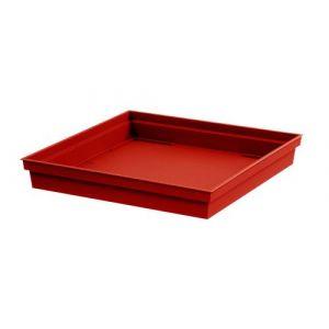 Eda Plastiques Soucoupe carrée Toscane - 40 cm - Rouge