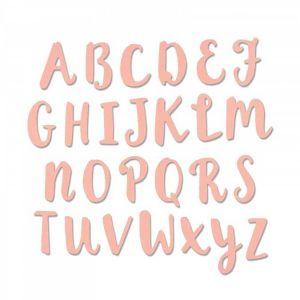 Sizzix Thinlits Die - Alphabet majuscule
