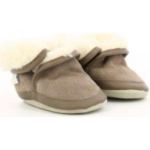 Robeez COSYWOOL, Chaussures de Naissance Mixte bébé, (Marron Clair 91), 21/22 EU
