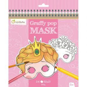 Avenue mandarine Carnet Graffy Pop Mask fille