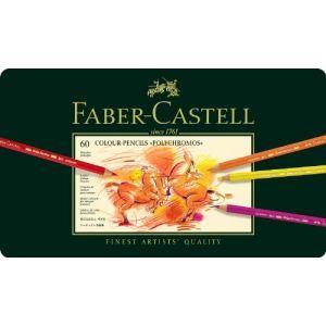 Faber-Castell 60 crayons de couleur polychromos assortis