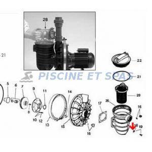 Sta-Rite Rondelle de préfiltre pompe Starite P2R-P4R (diamètre 8mm)
