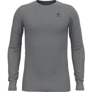 Odlo Base Layer Top Crew Neck L/S Active Warm Eco - Sous-vêtement synthétique taille M, gris