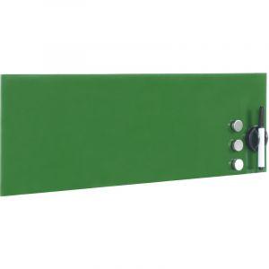 Image de wiltec Tableau magnétique en verre Mémo board Vert Tableau aide-mémoire 60x20cm