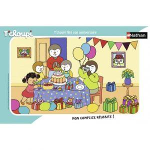 Nathan Puzzle cadre 15 p - t'choupi fête son anniversaire