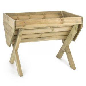 Blumfeldt Altiplano 100 - Jardinière de 100x76cm en bois de pin scandinave cértifié FSC