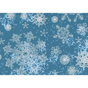 decopatch Papier 30 x 40cm 521 flocons bleu