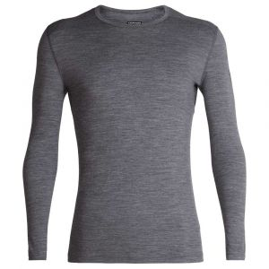 Icebreaker 200 Oasis LS Crew Top Men, gritstone heather M T-shirts manches longues