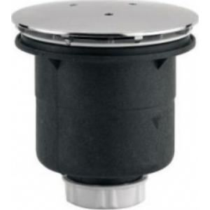 Valentin 5540000000 - Bonde plastique Siphoide à sortie verticale D.120 à visser ou à coller pour receveur D90