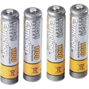 Camelion Rechargeables 4 accus AAA / R03 1100mAh NIMH