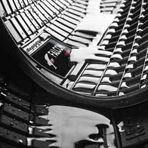 DBS 1765914 Tapis Auto en Caoutchouc - Sur Mesure - Tapis de sol pour Voiture - 4 Pièces - Caoutchouc Haute Qualité - Inodore - Antidérapant - Rebords Surélevés