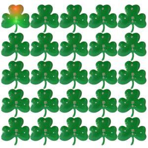 Carte de 25 pin's trèfles lumineux