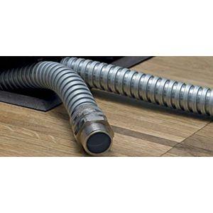 Hellermanntyton Gaine de protection métallique flexible acier galvanisé Ø 12 mm SC12 166-30101