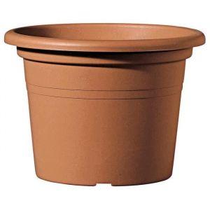 Deroma Pot Farnese - 30x30x21,2 cm - 8,9L - Terre rouge - Plastique injecté - Résistant au gel, résistant aux UV, percé, recyclable - Usage : extérieur