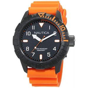 Nautica Montre Homme Analogique Quartz avec Bracelet en Silicone - NAD10082G