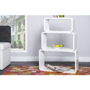 etagere cube blanc laque comparer 48 offres. Black Bedroom Furniture Sets. Home Design Ideas