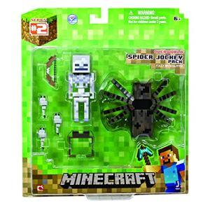 Jazwares Minecraft overworld spider jockey - Pack 2 figurines articulées
