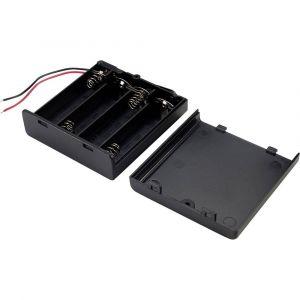 Tru Components SBH341-1AS Support de pile 4 LR6 (AA) câble