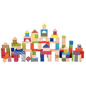 SAPIN MALIN Jeu de Construction en bois de 100 blocs / Pièces