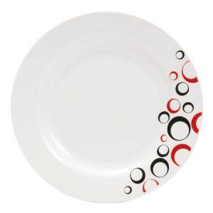 novastyl bulleo 6 assiettes plates en porcelaine 26 cm comparer avec. Black Bedroom Furniture Sets. Home Design Ideas