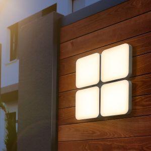 Esotec Applique LED 1650lm 3000K Applique spot extérieur Lampe d?extérieur 201206