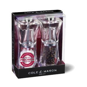 Cole & Mason Set de moulins sel et poivre Crystal
