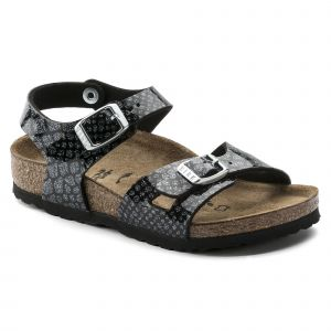 Birkenstock Rio, Sandales Bride Arriere Filles, Noir (Noir Magic Snake Black-Silver Noir Magic Snake Black-Silver), 31 EU