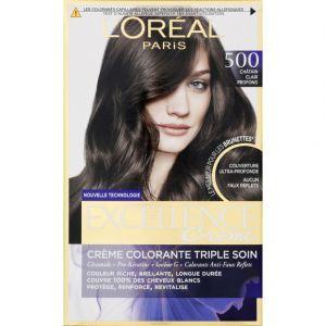 L'Oréal Excellence Crème colorante triple soin 500 châtain clair profond