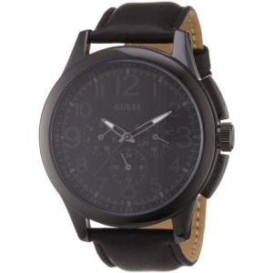 Guess W11585G1 - Montre pour homme avec bracelet en cuir