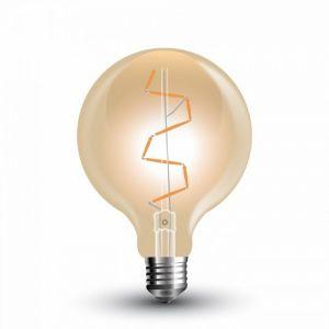 V-TAC VT-2024 ampoule LED E27 4W GLOBO G95 filament ambre - SKU 7146 SKU-7146