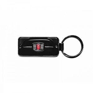 Fiat 500 Etui porte-clés, noir (Noir) - FIKR44